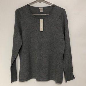 🆕 Chico's Heathered Gray Sweater 8/M